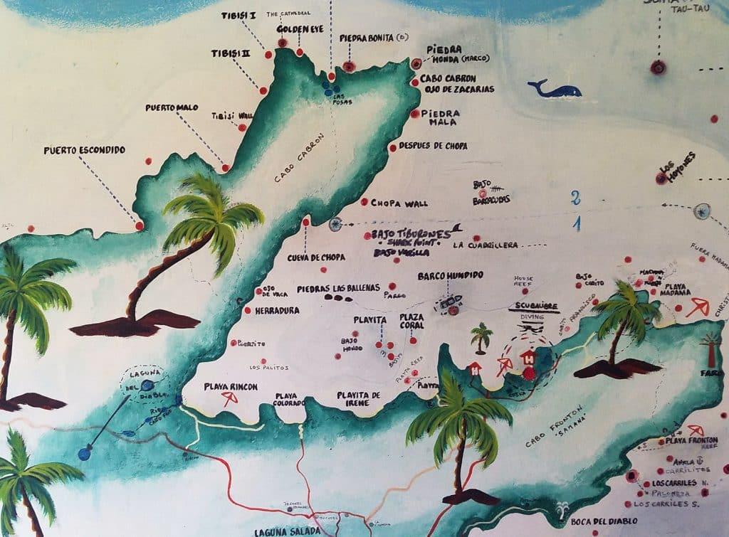 Samana scuba diving map