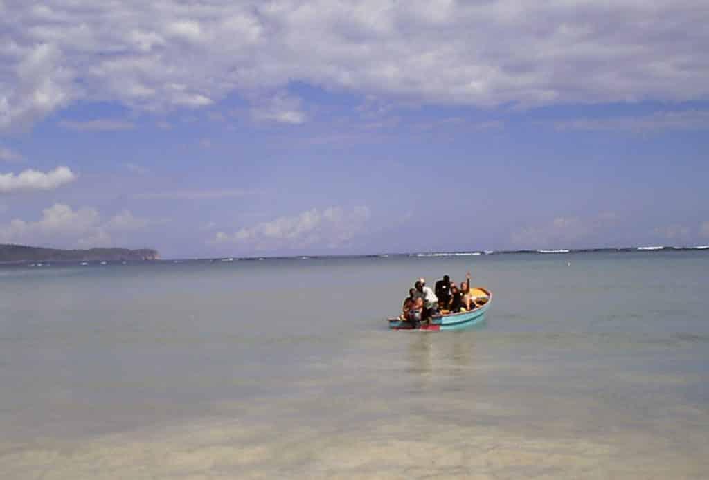 depart de la plage