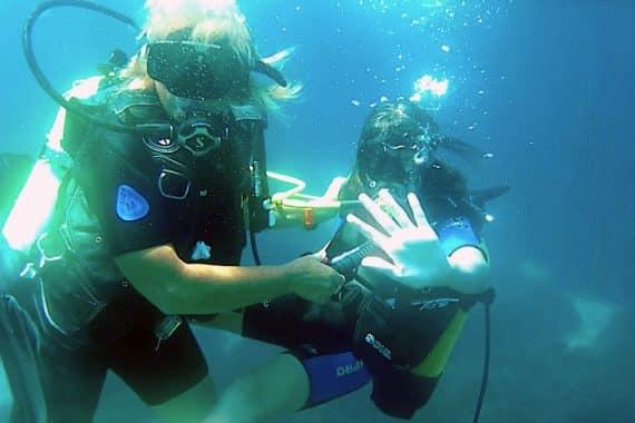 bapteme plongée en mer