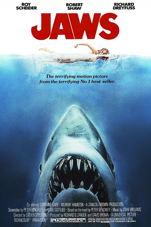 Affiche film les dents de la mer Jaws